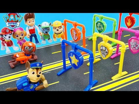 PAW PATROL RACING PUPS ADVENTURE BAY RACE TRACK SPEEDWAY CHASE ZUMA RUBBLE EVEREST RESCUE PUPS