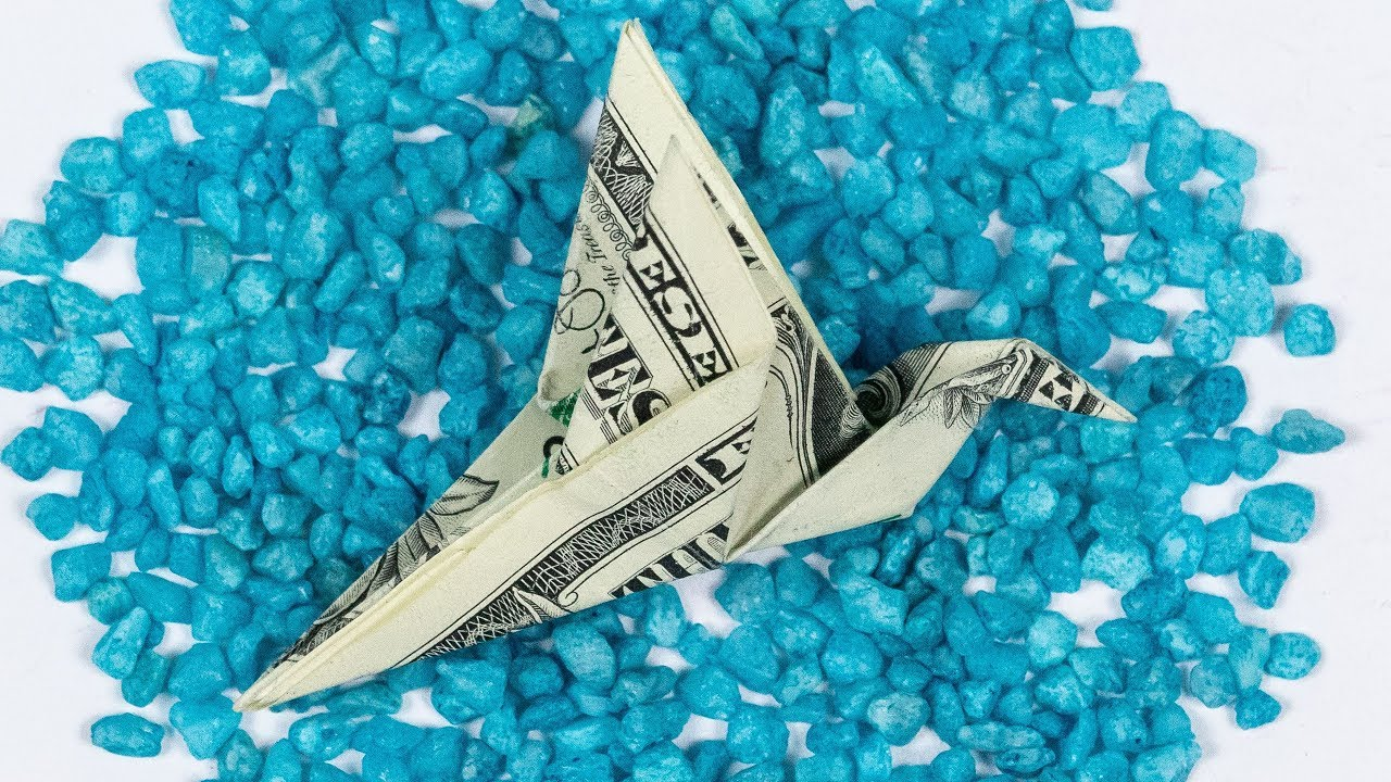dollar bill origami bird how to fold a bird out of money