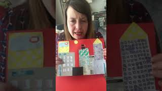 How to make a cityscape using scrap card/paper.