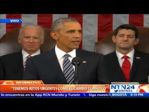 Obama pronuncia último discurso del Estado de Unión con miras al futuro