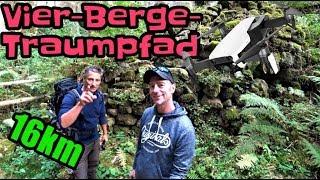 Vier-Berge-Traumpfad   16km-Wanderung mit Dirk on Tour