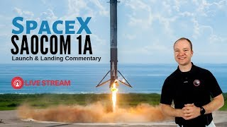 #SpaceX Falcon 9 SAOCOM 1A 🔴 Live Launch Commentary First Vandenberg RTLS