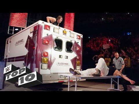 Ambulance attacks: WWE Top 10