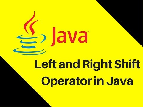 4.7 Left And Right Shift Operator In Java