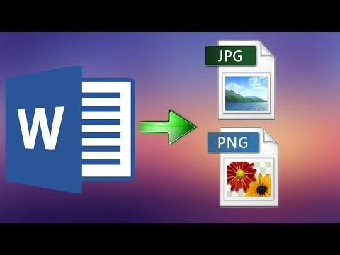 How To Save Word Document As Image (png, Jpeg And So On)