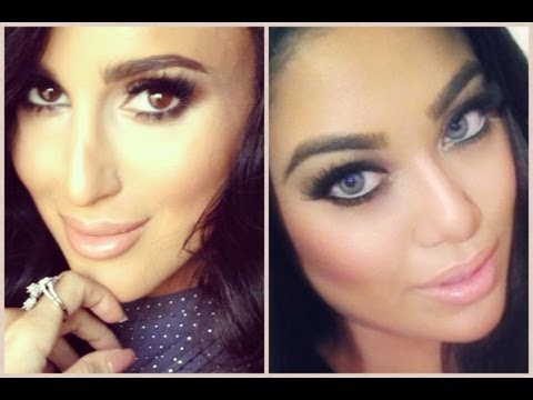 LILLY GHALICHI HIGHLIGHT AND CONTOUR MAKEUP TUTORIAL