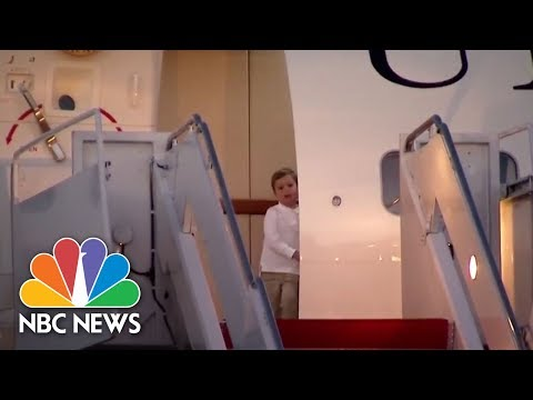 Cute Video Of The President's Grandchildren At The Doorway Of Air Force One | NBC News