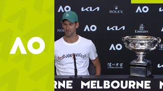 "Novak Djokovic: ""It's been a rollercoaster ride"" press conference (F) 