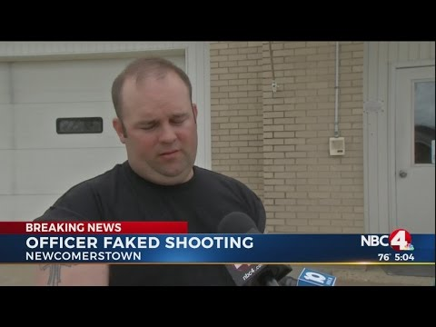Sheriff: Newcomerstown, Ohio officer lied about being shot during traffic stop