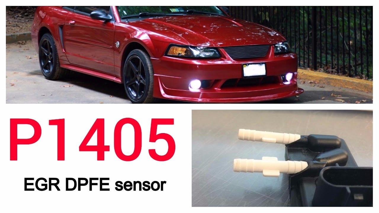 how to: fix 99-04 ford mustang egr dpfe sensor: p1405