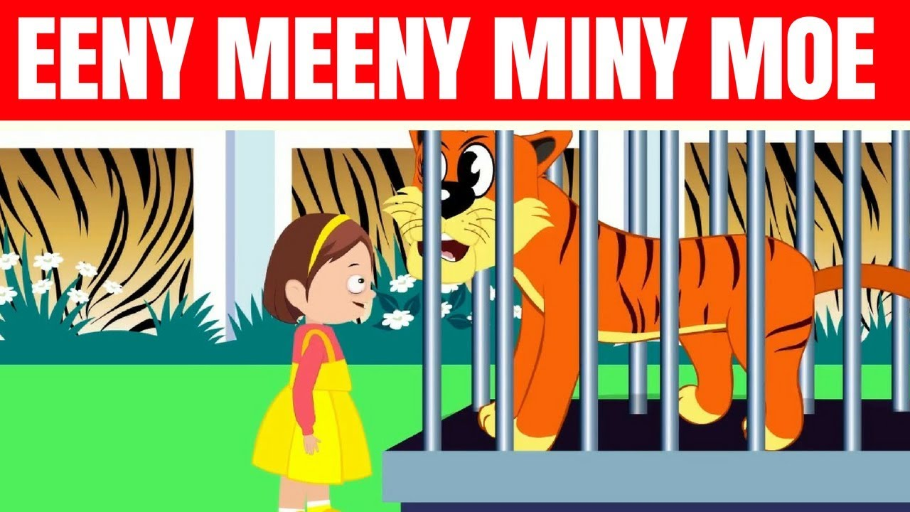 Eeny Meeny Miny Moe Nursery Rhyme With Lyrics Tickling Toddlers