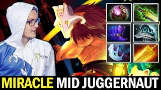 MIRACLE Mid Juggernaut — WTF Full Magic Build Dota 2