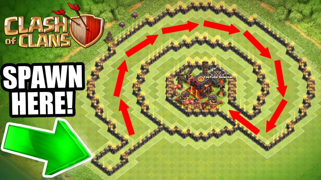 "Souvent Clash Of Clans - INSANE ""NO NAME"" TROLL BASE!! - CAN IT BE BEATEN  FF41"