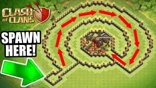 Clash Of Clans - INSANE 'NO NAME' TROLL BASE!! - CAN IT BE BEATEN!?!