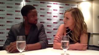 SciFi Vision: Fan Expo Canada 2013 - Defiance Press Room - Dewshane Williams & Julie Benz