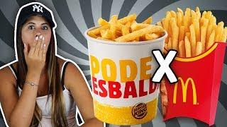 Burger King X McDonald's batalha de Batatas Gigantes