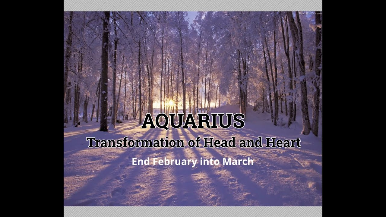 AQUARIUS: End of February into March - Transformation of Head and Heart