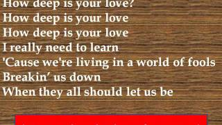Bee Gees How Deep is Your Love Lyrics.mp3
