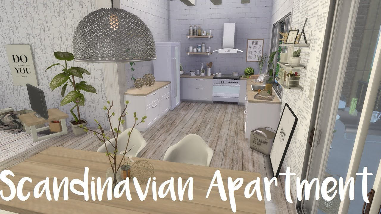 The Sims 4 Speed Build SCANDINAVIAN APARTMENT CC List YouTube