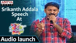 Srikanth Addala Speech At Mukunda Audio Launch Varun Tej, Pooja Hegde