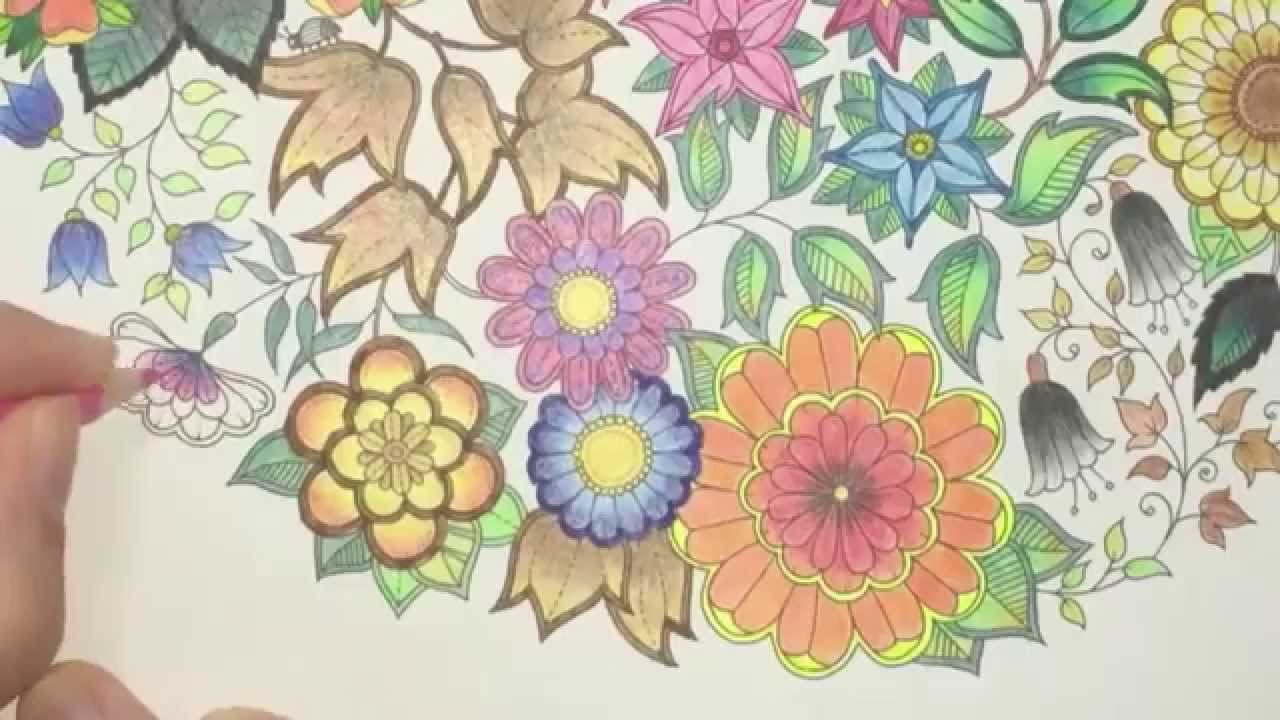 Secret Garden Coloring Book (Page 4) - YouTube