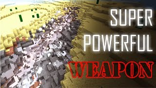 MOST DESTRUCTIVE WEAPON in MCPE TUTORIAL (Minecraft PE Command block)