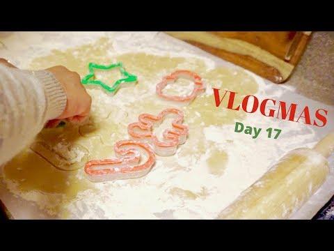 VLOGMAS DAY 17 | Baking Christmas Cookies and Dancing!