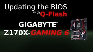 Updating the BIOS using Q-Flash