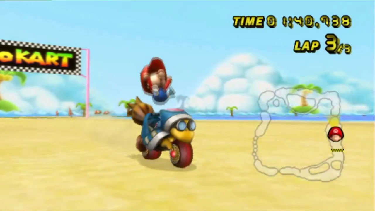 Mario Kart Wii 100 Playthrough Part 7 Banana Cup Time Trial Unlocking The Spear