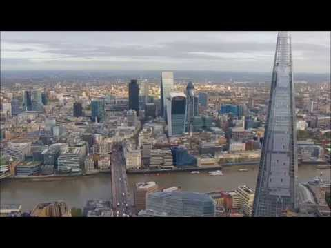 London City Skyline - Amazing aerial view!
