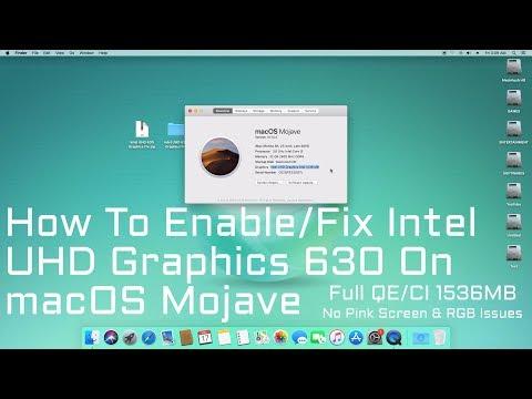 How to Enable/Fix Intel UHD Graphics 630 on macOS Mojave