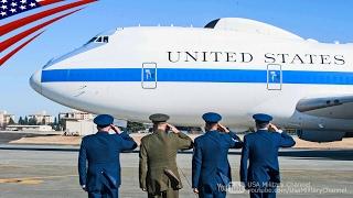 【狂犬】マティス国防長官が日本(横田基地)にE-4Bナイトウォッチで到着 2017/2/3