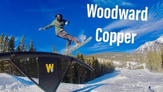 INSANE Day Snowboarding NEW PARKS at Woodward Copper