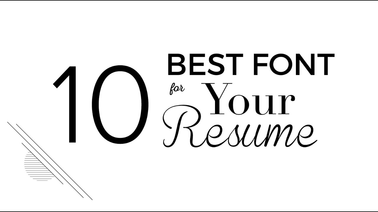 10 Best Font For Your Resume  Good Font For Resume