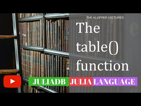 Julia Language Database JuliaDB