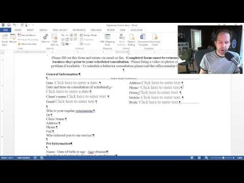 How to REALLY use Microsoft Office - Creating Forms in Word