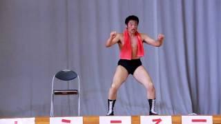 ツールドジャパン三宅島大会表彰式終了後に披露された猪木のネタ。