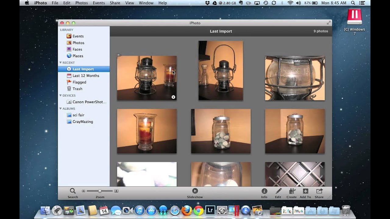 Importing Images into iPhoto and Picasa