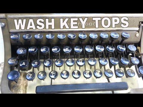 Wash Clean Brighten Key Tops on Typewriter Keyboard