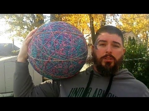 Giant Rubber Band Ball At Skate Park