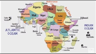 African Countries and Their Location [Map of Africa Continent]
