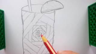 Как нарисовать смузи