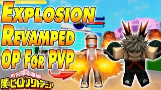 NEW EXPLOSION REVAMP IS OP FOR PVP | Boku No Roblox Remastered