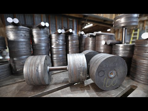 Dumbbell Set from Scrap Metal | 10-100 lbs, Flat Bench, and Rack