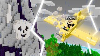 I Crashed Into A Minecraft Island.. ITS SECRET WILL SCARE YOU!