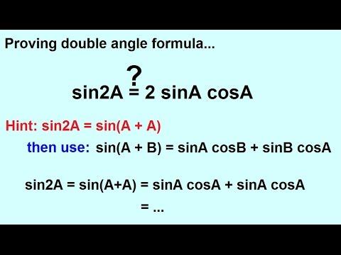 PreCalculus - Trigonometry: Trig Identities (23 of 57) Double Angle Formula Proved: Sine