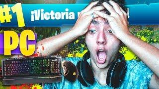 MI PRIMERA VICTORIA EN PC en FORTNITE: Battle Royale!! - Agustin51