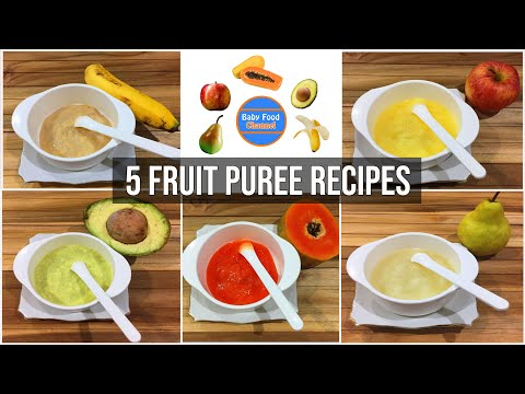 Best baby food for 6 month old - 5 homemade puree baby food