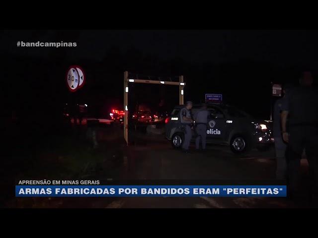 """Apreensão em Minas Gerais: armas fabricadas por bandidos eram """"perfeitas"""""""