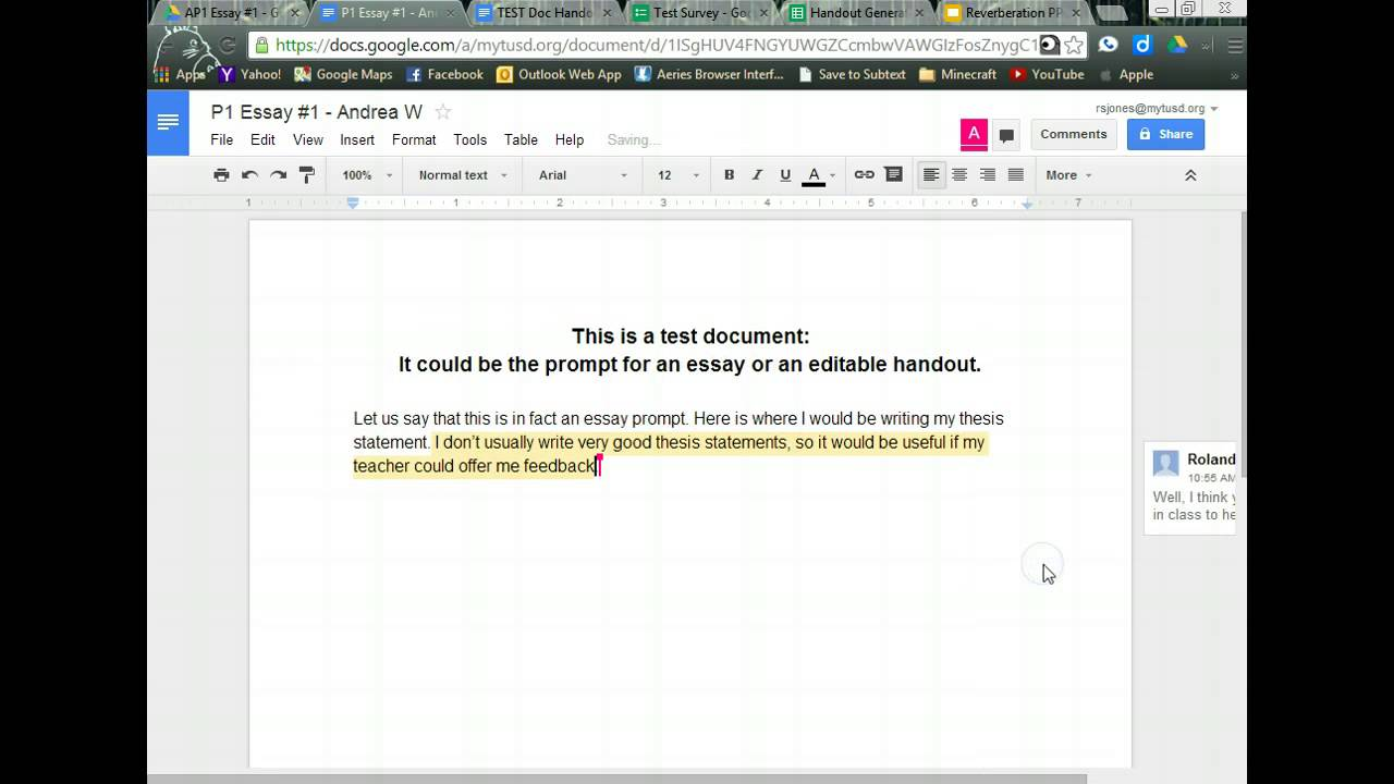 Handout Generator in Google Drive #2 - YouTube